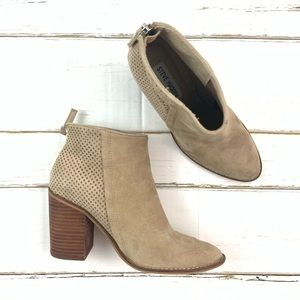 Steve Madden Taupe Suede  Replay Bootie